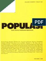 Populasi Volume 5, Nomor 1, Tahun 1994