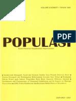 Populasi Volume 6, Nomor 1, Tahun 1995