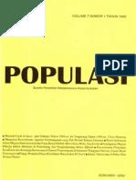 Populasi Volume 7, Nomor 1, Tahun 1996