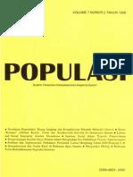 Populasi Volume 7, Nomor 2, Tahun 1996