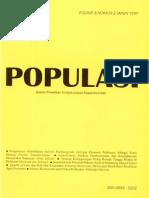 Populasi Volume 8, Nomor 2, Tahun 1997