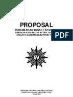 Proposal Perkemahan Besar Tahun 2012 GKHW Kwarda Kab. Tegal