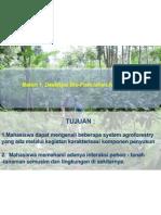 Deskripsi Bio-Fisik lahan Agroforestri