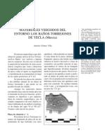 Materiales visigodos del entorno Los Baños - Torrejones de Yecla (Murcia).