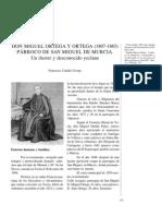 Don Miguel Ortega y Ortega (1807-1865) párroco de san Miguel de Murcia. Un ilustre y desconocido yeclano.