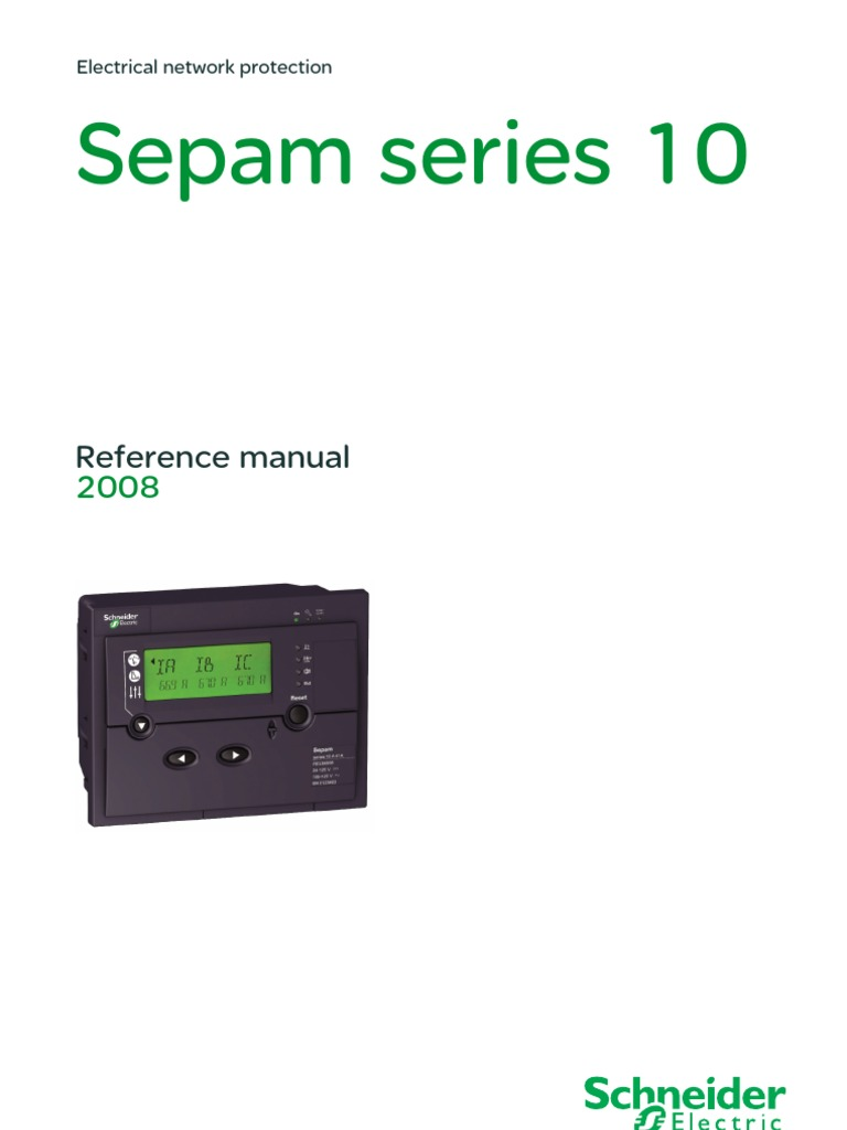 Sepam 10 User Manual | Power Supply | Relay