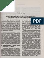 El Personalismo Cristiano de Enmanuel Mounier Un Camino de Filosofia Contemporanea