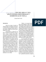 La fabricación del hielo y sus aplicaciones industriales y domésticas en Yecla.