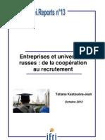 Entreprises et universités russes