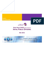 Bank Nizwa IPO Presentation