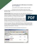 SQL Server Installing Information