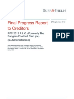 RFC 2012 PLC %28Formerly the Rangers Football Club Plc%29 Final Progress Report to Creditors