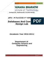 Databases and Compiler LAB
