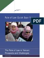 The rule of law in Yemen