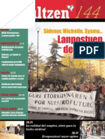 144 iraultzen (aldizkari sindikala, revista sindical, journal syndical)