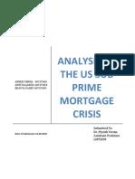 US Sub Prime Crisis