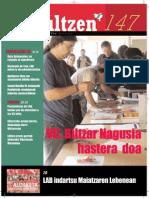 147 iraultzen (aldizkari sindikala, revista sindical, journal syndical)