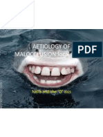 Aetiology of Malocclusion(1)