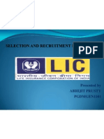 selection and recruitment  process of lic of india