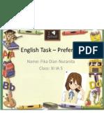 English Task – Preference