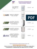 Alarmas Accesorios Detectores de Movimiento  PIR, Todas Las Marcas y Modelos www.Logantech.com.mx Mérida, Yuc.