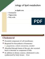 Pathophysio of Lipid Metabolism