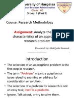 Characteristics of a Research Problem