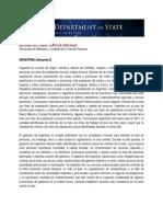 Informe del Depto Estado de EEUU 2012 Sobre Trata de personas