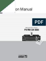 PX-8000 Om English