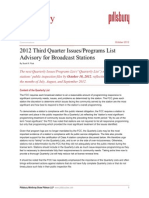 2012 Programs Compliance List