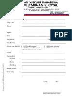 formulir pendaftaran ospek 2012