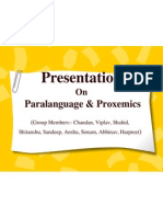 Presentation on Paralanguage & Proxemics
