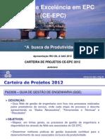 "CE-EPC Sistema GGE. ""A busca da Produtividade"" CE-EPC na Rio Oil e Gás 2012"
