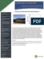 Distributed Fiber Optic Point Strain Sensors