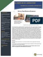 Optical Fiber Radiation Dosimeter