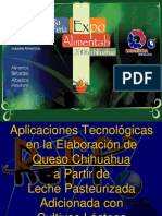 Aplicaciones Técnológicas_queso chihuahua_leche_pasteurizada