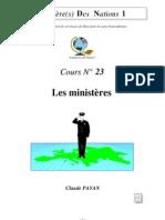 Claude Payan - Les ministères