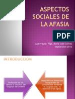 Aspectos Sociales de La Afasia