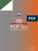 Budget Projet de loi de Finance 2013, Culture et Communication