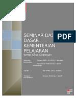 Kertas Kerja Cadangan Seminar