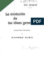 25364054 Ribot Theodule La Evolucion de Las Ideas Generales 1899