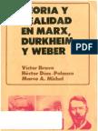 Bravo, V[1][1]._ Teoría y realidad en Marx, Durkheim y Weber