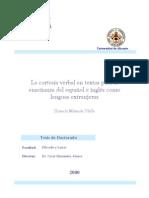 La Cortesia Verbal en Textos Para La Ensenanza Del Espanol e Ingles Como Lenguas Extranjeras
