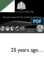 Cubify Developer Presentation Ces 2012