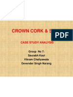 Crown Cork Case Study Analysis