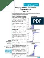 Panorama Económico Departamental Abril 2011