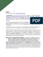 La psicologia y el aprendizaje(compendio extraido de internet)