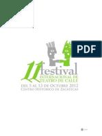 Programa General 11º Festival Internacional de Teatro de Calle.
