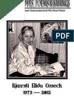 KJAERSTI ELIDA GUSECK, casual notes and poems etc