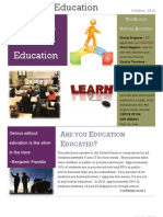 Passion in Education Newsletter October 2012